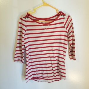 H&M red and white tee